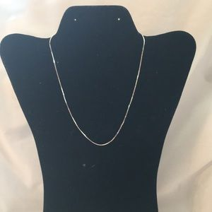 "Silver box necklace 16"""